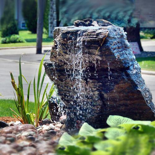 bubbling rocks  u0026 water features